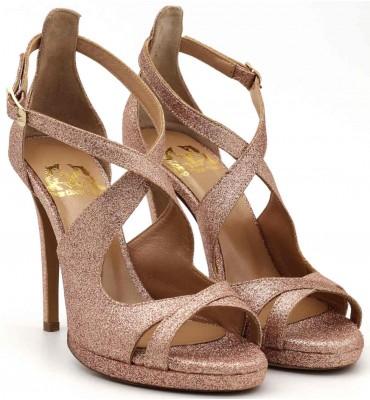 Merlin Rose Gold Sandal Glitter