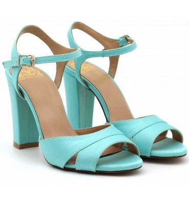 """Scarlette"" Mint Satin Sandal"