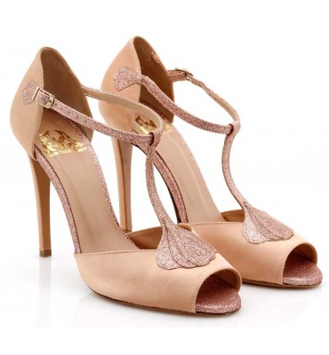 ''Ariel'' Chocolat Satin Sandal