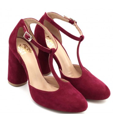 "copy of ""Amelie"" Bordeaux Heel t-bar"