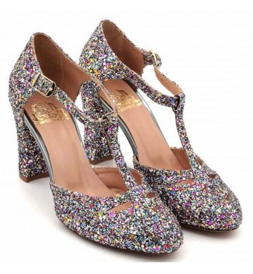Scarlett Multi Glitter Heel t-bar