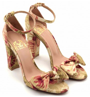 Amaryllis Floral Sandal With Bow